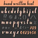 Hand getrokken brieven Stock Foto