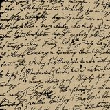 Hand getrokken brieven naadloos patroon. Royalty-vrije Stock Foto's