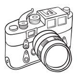 Hand getrokken camera Royalty-vrije Stock Afbeelding