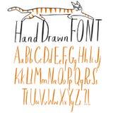Hand getrokken creatieve ABC-geplaatste brieven Royalty-vrije Stock Afbeeldingen