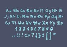 Hand getrokken de krabbelgekrabbel van alfabetbrieven Royalty-vrije Stock Foto