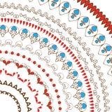 Hand getrokken decoratieve kanten bloemborstels royalty-vrije illustratie