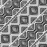 Hand getrokken etnisch naadloos patroon vector illustratie