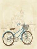 Hand getrokken fiets Stock Fotografie