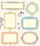 Hand getrokken frames Royalty-vrije Stock Foto's
