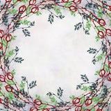 Hand getrokken geweven bloemenachtergrond Uitstekende kaart met rozen en bladeren Malplaatje voor brief of groetkaart Royalty-vrije Stock Foto