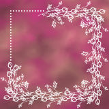 Hand getrokken geweven bloemenachtergrond Uitstekende kaart met rozen en bladeren Malplaatje voor brief of groetkaart Stock Afbeeldingen