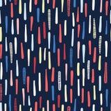 Hand getrokken geweven maritieme strepen Naadloos vectorpatroon De verticale gestreepte textiel van de kustmanier Overal druk voo royalty-vrije illustratie