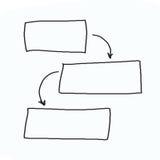 Hand getrokken grafiek of diagramsymbolen aan conc inputinformatie Royalty-vrije Stock Foto
