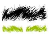 Hand getrokken gras Stock Afbeeldingen