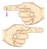 Hand getrokken handen Stock Afbeeldingen