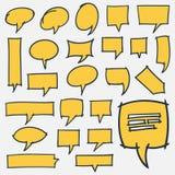 Hand Getrokken het Ontwerpelementen van Toespraakbellen Stock Foto