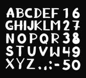 Hand getrokken hipster uitstekende letters en getallen Royalty-vrije Stock Afbeelding