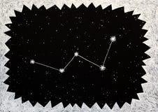 Hand getrokken illustratie van de Cassiopeia-constellatie Royalty-vrije Stock Foto's