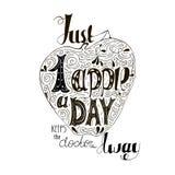 Hand getrokken inspirerend citaat - enkel één appel een dag houdt weg de arts Het vectorhand van letters voorzien Klaar ontwerpt- Stock Afbeeldingen
