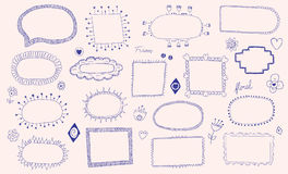 Hand getrokken kaders vector illustratie