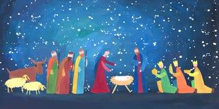 Hand getrokken Kerstmisillustratie Royalty-vrije Stock Foto