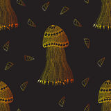 Hand getrokken kwallen en slakken naadloos patroon Royalty-vrije Stock Afbeelding