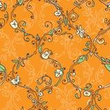 Hand getrokken latwerk bloemen naadloos patroon Royalty-vrije Stock Foto