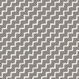 Hand getrokken lijnen naadloos patroon Abstracte geometrische het betegelen achtergrond Zwart-witte textuur uit de vrije hand Royalty-vrije Stock Afbeeldingen