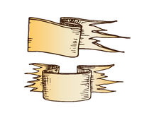 Hand getrokken linten vectorillustratie Royalty-vrije Stock Afbeelding