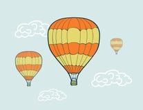 Hand getrokken luchtballons Stock Fotografie
