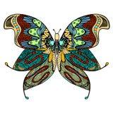 Hand getrokken mooie vlinder Stock Afbeeldingen