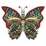 Hand getrokken mooie vlinder Royalty-vrije Stock Foto