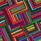 Hand getrokken naadloos geometrisch patroon 6 Stock Foto
