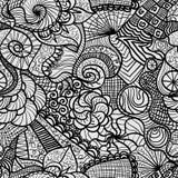 Hand getrokken naadloos patroon Stock Foto's