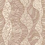 Hand getrokken naadloos patroon Royalty-vrije Stock Afbeeldingen