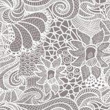 Hand getrokken naadloos patroon Stock Afbeeldingen
