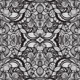 Hand getrokken naadloos patroon Stock Afbeelding