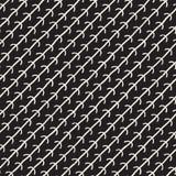 Hand getrokken naadloos patroon Abstracte geometrische vormenachtergrond in zwart-wit Vector etnische grungy textuur Royalty-vrije Stock Afbeeldingen