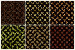 Hand getrokken naadloos patroon dat met inkt wordt gemaakt royalty-vrije stock afbeeldingen
