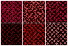 Hand getrokken naadloos patroon dat met inkt wordt gemaakt stock foto