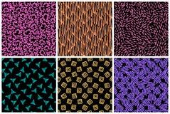 Hand getrokken naadloos patroon dat met inkt wordt gemaakt stock afbeelding