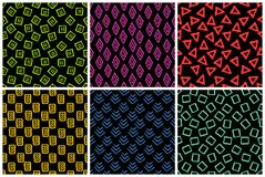 Hand getrokken naadloos patroon dat met inkt wordt gemaakt royalty-vrije stock foto's