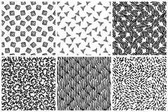 Hand getrokken naadloos patroon dat met inkt wordt gemaakt royalty-vrije stock fotografie