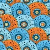 Hand getrokken naadloos patroon met bloemenelementen Royalty-vrije Stock Afbeeldingen