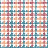 Hand getrokken naadloos patroon met de kruising van geschilderde lijnen Vectortextuur voor druk, document behang, huisdecor Royalty-vrije Stock Foto's