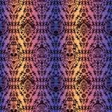Hand getrokken naadloos patroon met Stammen etnisch masker Schets voor uw ontwerp, wallaper, textiel, druk Afrikaanse cultuur royalty-vrije illustratie