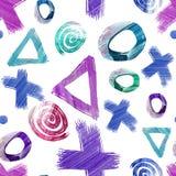 Hand getrokken naadloos patroon met verschillende cijfers vector illustratie