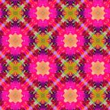 Hand getrokken naadloos patroon met volks nationale motieven Helder gekleurd abstract behang Naadloze textuur geometrisch vector illustratie