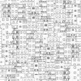 Hand getrokken naadloos patroon van de huizen van Kaïro royalty-vrije illustratie