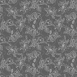 Hand getrokken naadloos patroon royalty-vrije illustratie