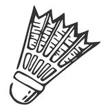 Hand getrokken nylon shuttle, vectorillustratie Stock Afbeeldingen