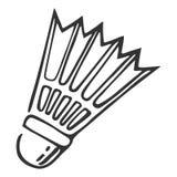Hand getrokken nylon shuttle, vectorillustratie Royalty-vrije Stock Afbeeldingen