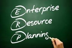 Hand getrokken Ondernemingsmiddel plannings (ERP) bedrijfsconcept o Stock Foto