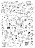 Hand getrokken onderwijs vectorreeks Royalty-vrije Stock Fotografie